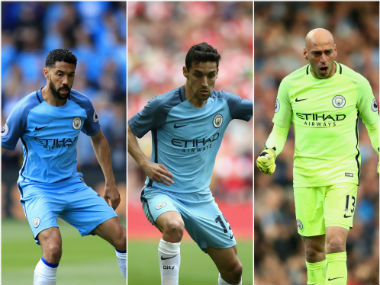 Premier League Manchester City confirm Gael Clichy Jesus Navas and Willy Caballero headed towards exit