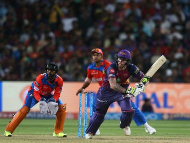Rising Pune Supergiants' Ben Stokes in action against Gujarat Lions in their IPL match. Sportzpics