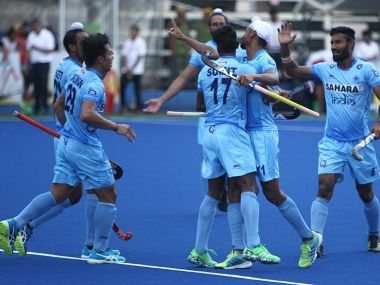The Indian hockey team in action at the Sultan Azlan Shah Cup. Image courtesy: Twitter/@TheHockeyIndia