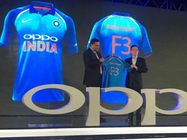 BCCI's Rahul Johri launches the new kit of team India. Twitter/@BCCI