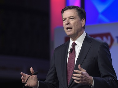Ousted FBI chief James Comey. AP