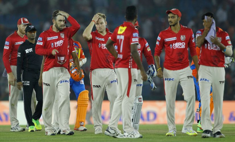Kings XI Punjab players leave the field disappointed after losing the match against the Gujarat Lions. Sportzpics