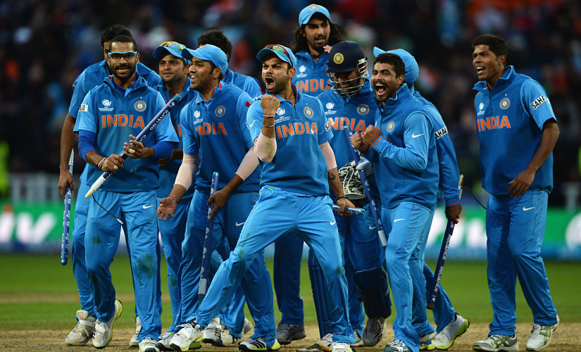 With England comfortable at 110 for 4, needing 20 off 16 balls with six wickets in hand, Dhoni did what he's so often done, though not always with such successful results: He put his faith in Ishant Sharma, who removed Bopara and Morgan, both set, as England somehow managed to lose by five runs. There were Gangnum style celebrations as India lifted the trophy for the second time. Getty