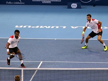 File Photo of Grigor Dimitrov and Leander Paes . Getty Images