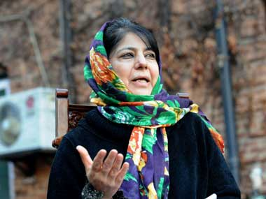 Mehbooba Mufti roughed up Chaos at an event organised for women selfhelp groups