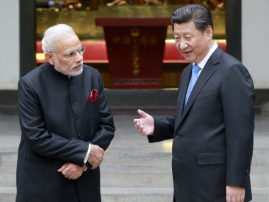 Prime Minister Narendra Modi with Chinese president Xi Jinping. Reuters