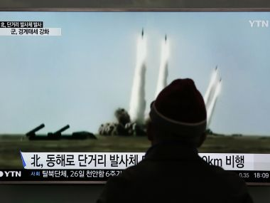 North Korea fires another ballistic missile its third in a week Japan protests  Trump briefed