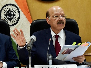 File image of Chief Election Commissioner Nasim Zaidi. PTI