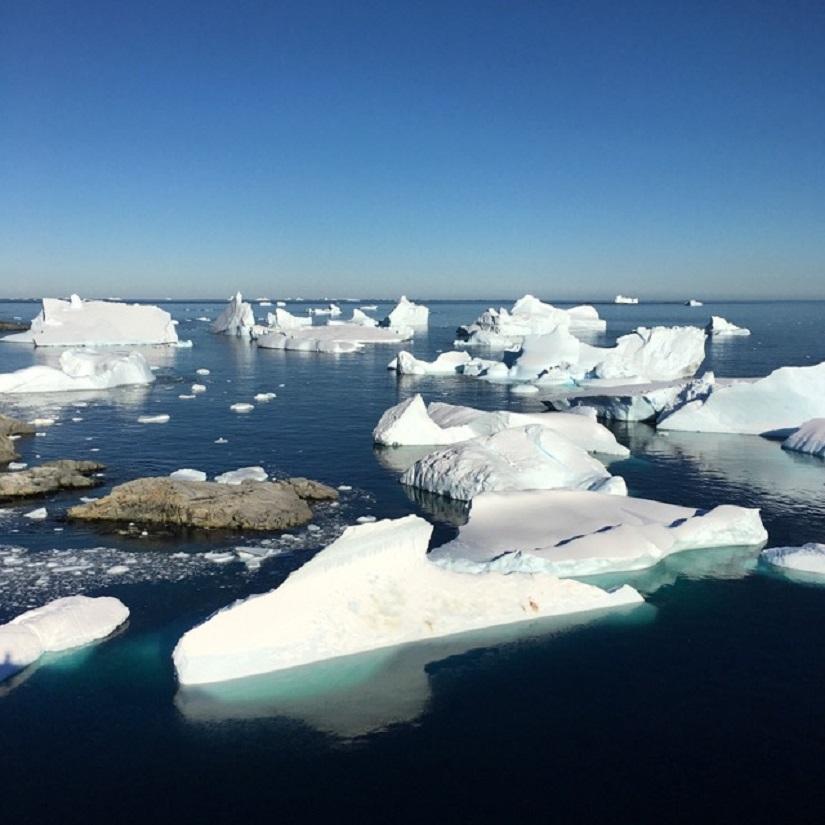 Icebergs off of Petermann Island along the Antarctic Peninsula