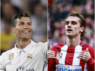 File photo of Cristiano Ronaldo and Antoine Griezmann. AFP