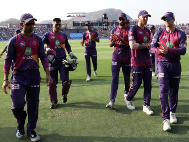 Rising Pune Supergiant players walk off the pitch after a match. Sportzpics/IPL
