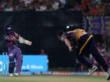 Rising Pune Supergiant's Rahul Tripathi plays . Sportzpics/IPL