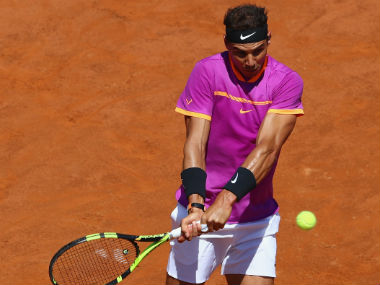Rafael Nadal's loss to Dominic Thiem also brought to an end his 17-match winning run. Getty Images