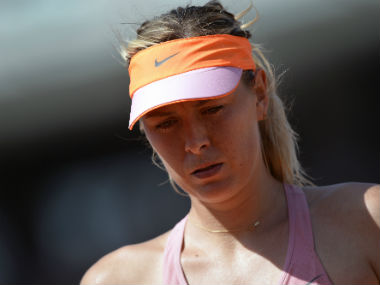 Maria Sharapova had earlier been denied a wildcard entry into the upcoming French Open.  AFP
