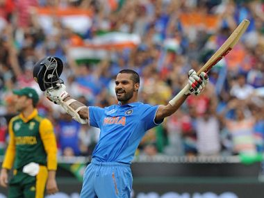 File picture of Shikhar Dhawan. AFP