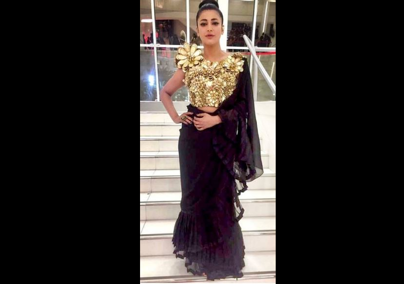 Shruti Haasan in Abu Jani and Sandeep Khosla. Image from Instagram.