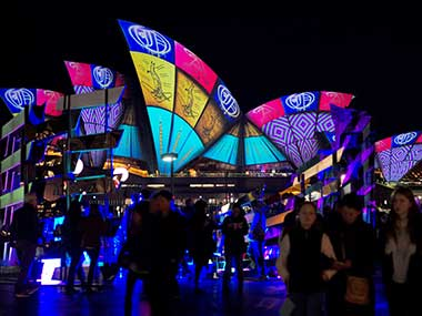 In wake of Manchester terror attack security beefed up at Australias Sydney Vivid light show