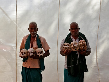 File photo of the Tamil Nadu farmers protests. Reuters
