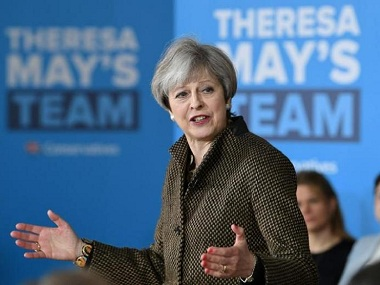 Theresa ke saath Conservatives try to woo BritishIndians with Hindi campaign song