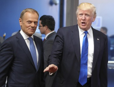 EU Donald Trump have different views on Russia climate change Donald Tusk