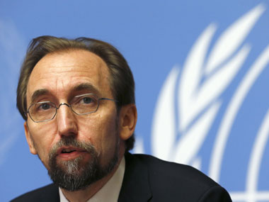 UN High Commissioner for Human Rights Zeid Ra'ad Al-Hussein. Reuters