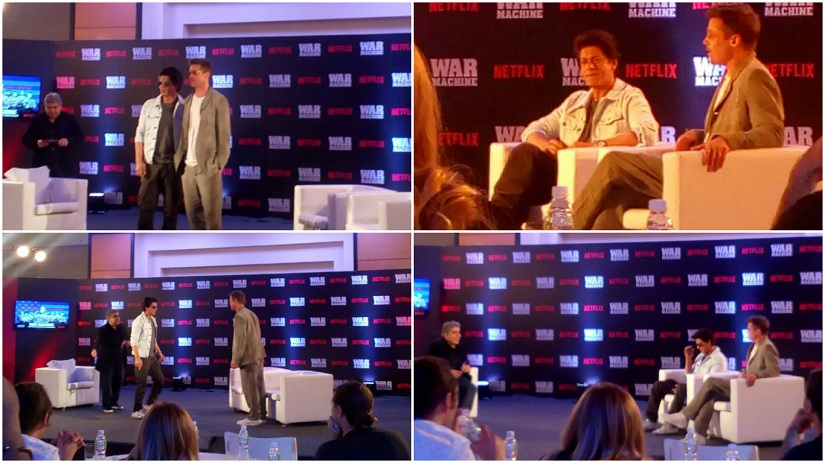 Brad Pitt in India to promote War Machine; discusses cinema, Bollywood with Shah Rukh Khan