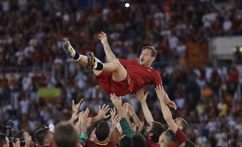 Serie A Francesco Totti given fitting Roma farewell as Diego Perotti scores late