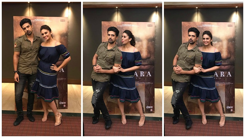 Siblings on screen, and off: Saqib Saleem and Huma Qureshi. Photos via Facebook