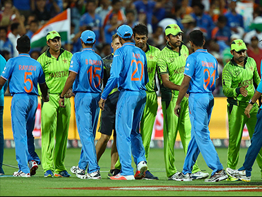 File image of a conclusion of a India-Pakistan match. Getty images