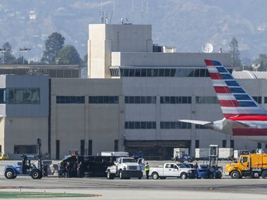 Plane crashes into airport truck at Los Angeles 8 injured