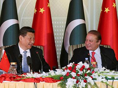Pakistan prime minister Nawaz Sharif with Chinese president Xi Jinping. PTI