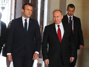 French president Emmanuel Macron warns Russia against use of chemical weapons in Syria