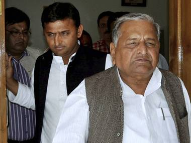 Congress BJP takes a dig at Mulayam Singh says SP patrons words and actions dont match