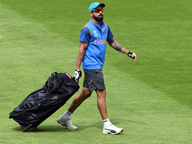 India captain Virat Kohli leaves a training session at Edgbaston cricket ground in Birmingham on June 3, 2017, ahead of the ICC Champions Trophy cricket match between Pakistan and India. / AFP PHOTO / Paul ELLIS / RESTRICTED TO EDITORIAL USE