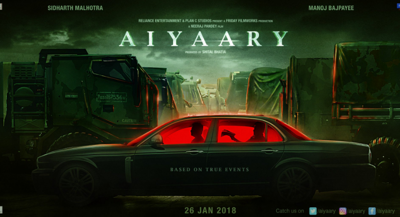 Official poster of Aiyaary. Image from Twitter.