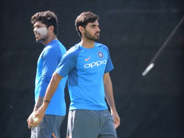 Bhuvneshwar Kumar (R) and Jasprit Bumrah have ousted Umesh Yadav (L) and Mohammed Shami from the ODI team. AP