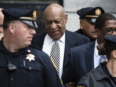 FILE - In this April 3, 2017 file photo, entertainer Bill Cosby leaves after a pretrial hearing in his sexual assault case at the Montgomery County Courthouse in Norristown, Pa. Bill Cosby doesn't plan to testify when he goes on trial Monday June 5, 2017 on sexual assault charges, but the rambling, disturbing testimony he gave a decade ago in the accuser's civil suit could prove just as crucial. (AP Photo/Matt Rourke)