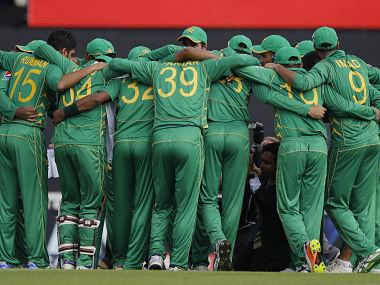 Pakistan national cricket team celebrate after winning the 2017 ICC Champions Trophy. AP
