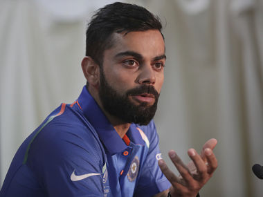India's captain Virat Kohli speaks during a press conference ahead of the final. AP