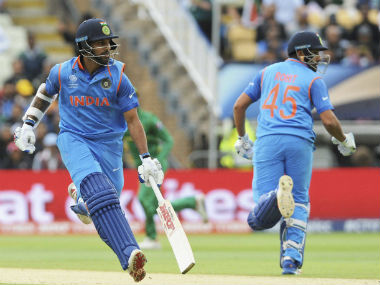 Dhawan and Rohit provided the solid platform on which Team India could score 319. AP