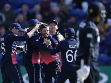 Mark Wood (centre) will pair with Jofra Archer for the first time on Friday. Reuters