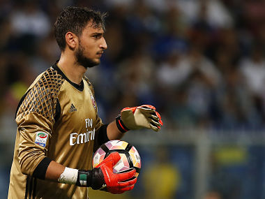 Serie A AC Milan goalkeeper Gianluigi Donnarumma insists he is calm and happy despite exit talk