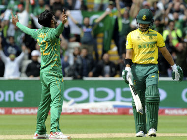 Hasan Ali was adjudged the man of the match for his figures of 3-28. AP
