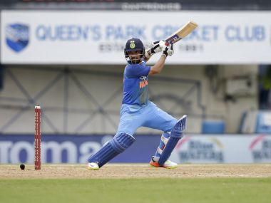 India's Ajinka Rahane plays a shot during the second ODI match against West Indies. AP