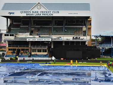 The first ODI between India and Windies was called off due to rain. Image courtesy: Twitter/@ICC
