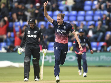 Jake Ball earned the Man of the Match for his miserly figures of 2/31 from 8 overs. AP