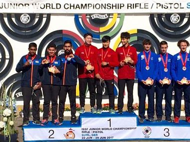 ISSF Junior World Championship India finish 2nd behind China with 8 medals overall including 3 gold