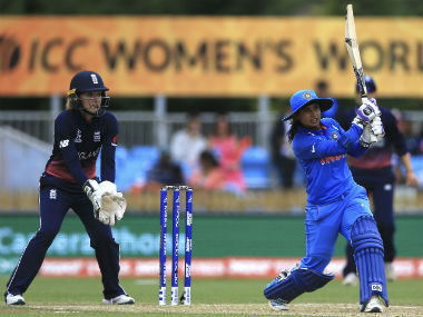 Mithali Raj plays a shot against England during India's opening game of Women's World Cup 2017. AP
