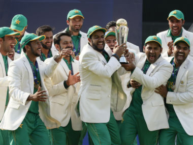 Pakistan lifted the ICC Champions Trophy for the first time. AP