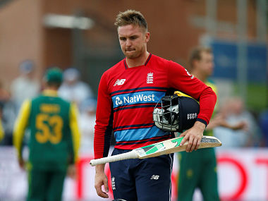 Cricket - England vs South Africa - Second International T20 - Taunton, Britain - June 23, 2017 England's Jason Roy looks dejected as he walks off after being dismissed for obstructing play Action Images via Reuters/Andrew Couldridge - RTS18EAL